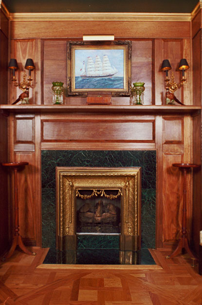 Solid Mahogany Fireplace Surround by Artisans of the Valley - Artisans Of The Valley - Custom Fireplace Surrounds