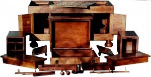 Solid Walnut Sequence Chest - Coffee & Gaming Table by Artisans of the Valley - shown in segments.