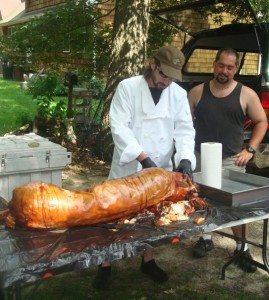 Eric Saperstein and Bill Corbo - Carving a Roasted Pig