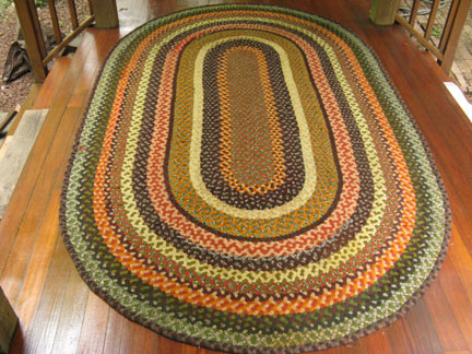 Hand Crafted Braided Rug By Marge Yonda Before Restoration