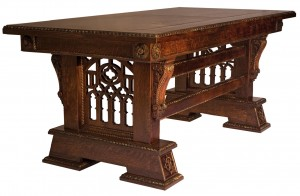 Custom hand made New Wave Gothic Desk (Library Table) by Artisans of the Valley