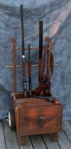 Artisans of the Valley - Cowboy Action Shooting Cart with Hand Carved Live Free or Die Eagle