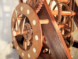 Hardwood Walnut Clock by Charles Maxwell and Dan Cooney