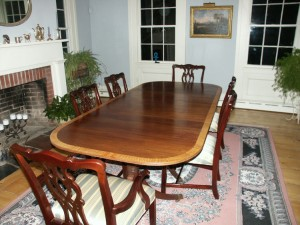 Reproduction Duncan Phyfe Dining Table - Restoration by Artisans of the Valley