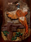 Pheasant Carving by Artisans of the Valley - Hand Carved Widlife Scenes