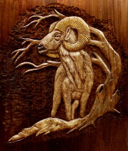 Eric M. Saperstein, Master Craftsman, Artisans of the Valley - Wildlife Carving featuring a Ram