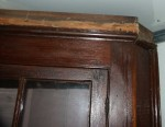 Solid Pine Country Corner Unit Restoration by Artisans of the Valley - Before Images