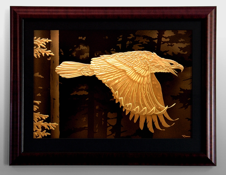 Randy Mardrus Eagle Carving