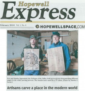Artisans carve a place in the modern world - Hopewell Express by Diccon Hyatt