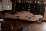 Artisans of the Valley at Hopewell Valley Vineyards Mixing Pallets 2012 - Redwood Burl Table in Progress