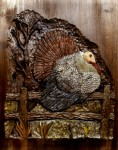 Wildlife Turkey Carving by Eric M. Saperstein Artisans of the Valley patterns by Lora S. Irish