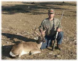 2006 YO Ranch Hunting Trip - Eric with 8pt Whitetail