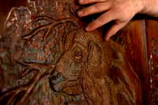 "Photos Above by Greg Pallente were featured ""Master of the Shop"" October � 2007 Princeton Magazine / North Jersey Media Group. Check out this recent article featuring Eric Saperstein of Artisans of the Valley - Ram Carving Closeup"