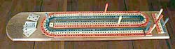Cribbage Game Board - Hand Made Original Design Top Side view