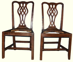Circa 1790 Chippendale Chairs Circa 1790 After Restoration