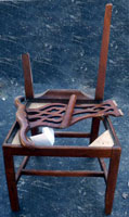 Circa 1790 Chippendale Chairs Circa 1790 Before Restoration