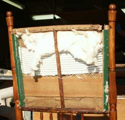 Brewster Style Rocking Chair - Before Restoration Shatted Back View