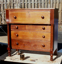 Circa 1825 Mahogany Empire Dresser - After Restoration