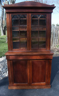Hand Made Walnut Hutch - After Restoration
