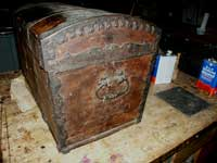 Antique Trunk Before Restoration End