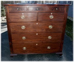 Circa 1810 Federal Dresser in Walnut After Restoration Front View