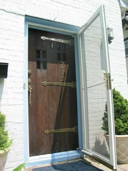 Chestnut Front Door - Before Restoration