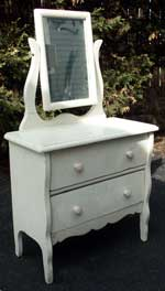 Collectable Child's Size Vanity Before Restoration Front