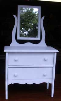 Collectable Child's Size Vanity - After Restoration
