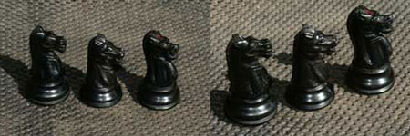 Knight from Jaques of London antique chess set(click for larger picture)