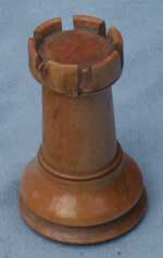 Staunton Chess Set - Rook After Restoration Side Angle View
