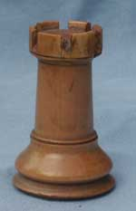 Staunton Chess Set - Rook After Restoration Side View