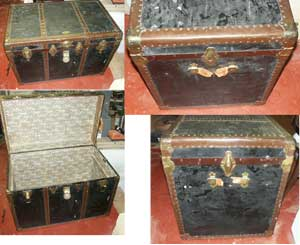 Antique Heirloom Travel Trunk - Before Restoration Photo Group