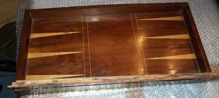 Antique Foldering Chess Board - Before Restoration - Bottom Half