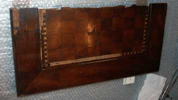 Antique Foldering Chess Board - Before Restoration - Top Half