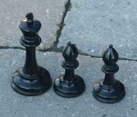 Jaques chess set - Before Restoration King and Bishop