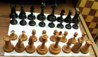 Jaques chess set - Before Restoration