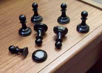 Jaques chess set - Before Restoration Black pawns