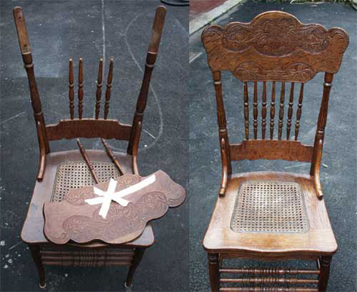 Chair Repair - Before u0026 After(View larger picture) & Artisans of the Valley - Restoration Gallery Golden Oak Page 1