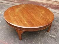 Artisans of the Valley - Golden Oak Coffee Table After Restoration