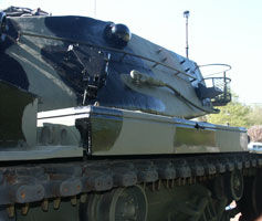M60A3 Main Battle Tank Prior to Restoration AmVets Post #77 - Side of Turret