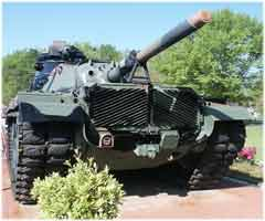 M60A3 Main Battle Tank Prior to Restoration AmVets Post #77 - Front View
