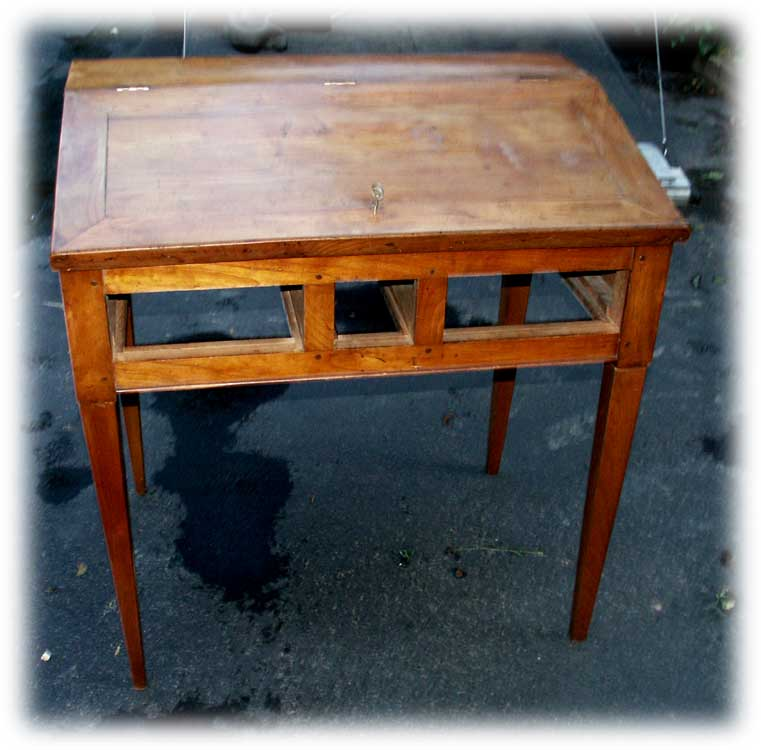 Antique Cherry Desk - After Leg Replacment Front ... - Artisans Of The Valley - Parts Replacement & Veneer Repair Page 2