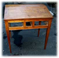 Antique Cherry Desk - After Leg Replacment Front