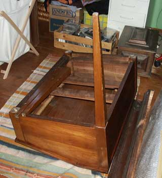 Antique Cherry Desk - Before Leg Replacment