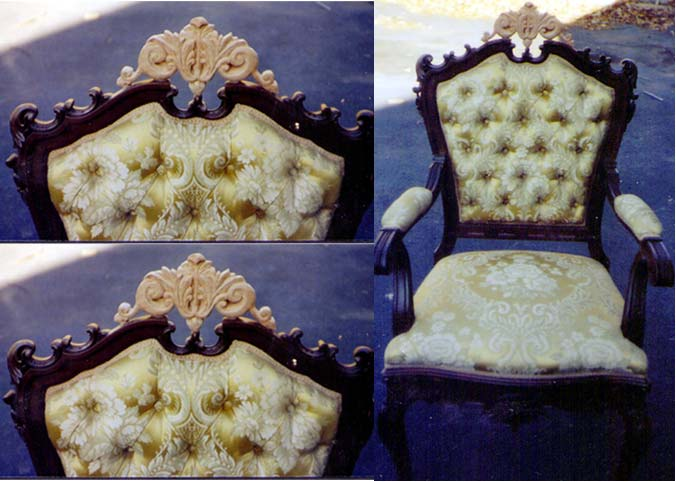 ... Artisans of the Valley Restoration - Ornate Hand Carving on Antique  Chair Restoration - Artisans Of The Valley - Parts Replacement & Veneer Repair Page 1
