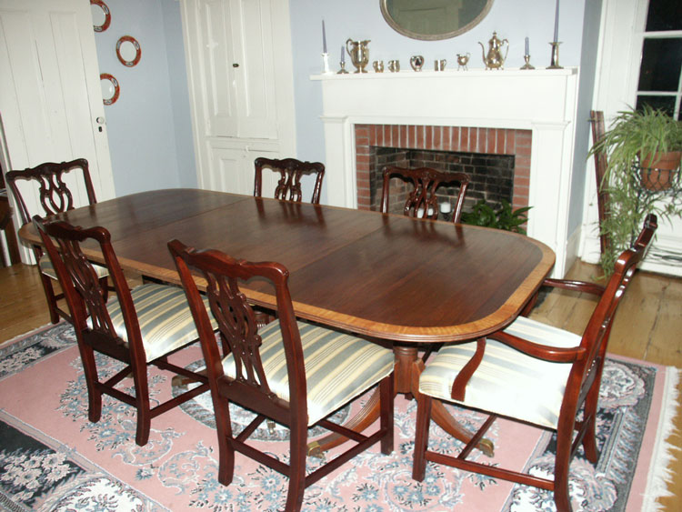 Duncan Phyfe   Mahogany Pedestal Table   Restoration Complete   Artisans Of  The Valley   Restoration