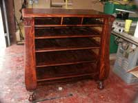 Circa 1904 Mahogany Bedroom Set Restoration Bureau In Progress