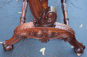 Circa 1904 Mahogany Bedroom Set Restoration Carving Detail Mirror Carving Restration Complete