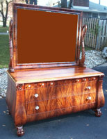 Circa 1904 Mahogany Bedroom Set Restoration Complete - Dresser