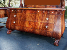 Circa 1904 Mahogany Bedroom Set Restoration Dresser Front View Complete